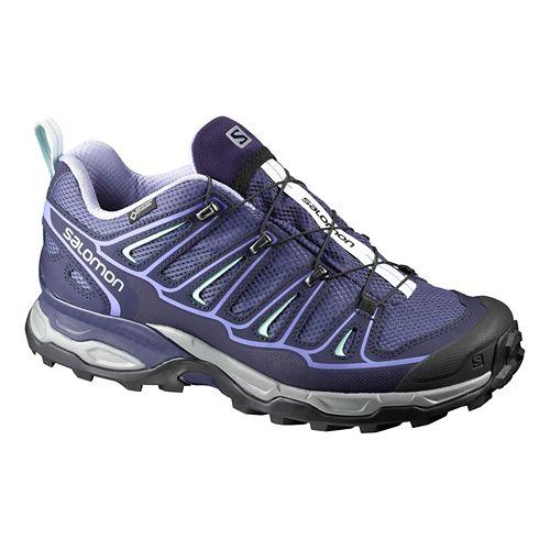 Womens Salomon X-Ultra 2 GTX Hiking Shoe - Crown Blue/Purple 9