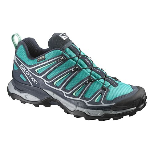 Womens Salomon X-Ultra 2 GTX Hiking Shoe - Peacock Blue 8