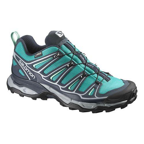 Womens Salomon X-Ultra 2 GTX Hiking Shoe - Peacock Blue 9