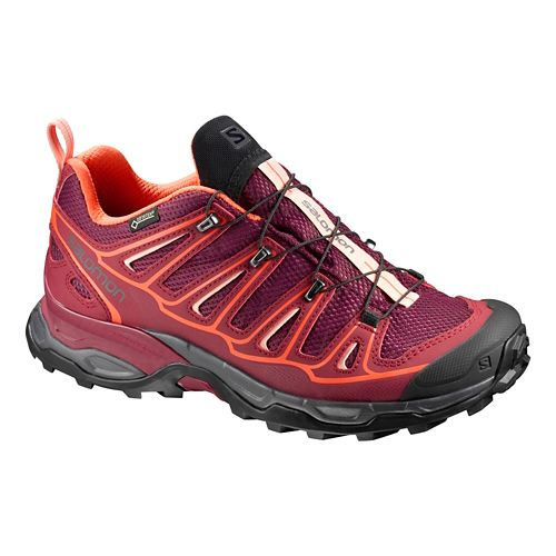 Womens Salomon X-Ultra 2 GTX Hiking Shoe - Fig/Maroon 8