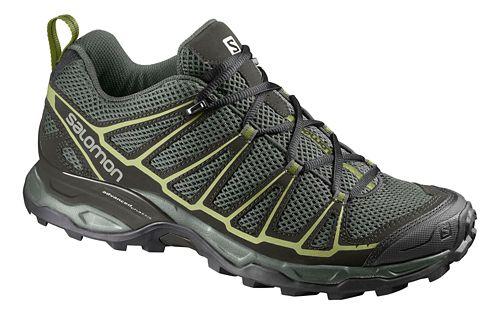 Mens Salomon X-Ultra Prime Hiking Shoe - Grey/Green 10.5