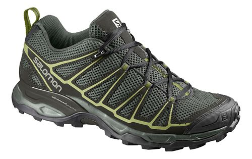 Mens Salomon X-Ultra Prime Hiking Shoe - Grey/Green 11.5