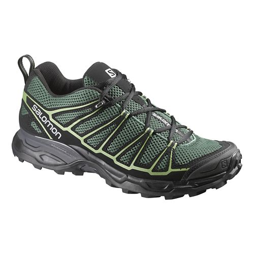 Mens Salomon X-Ultra Prime Hiking Shoe - Green/Black 7.5