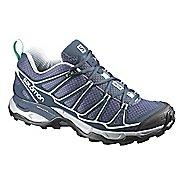 Womens Salomon X-Ultra Prime Hiking Shoe - Grey/Blue 7.5