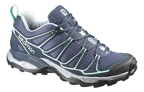 Womens Salomon X-Ultra Prime Hiking Shoe - Grey/Blue 7.5