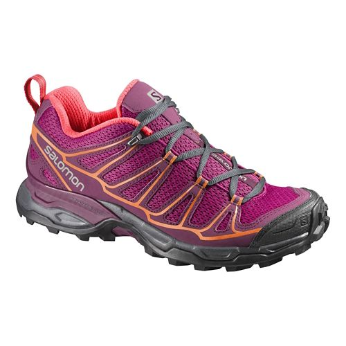 Womens Salomon X-Ultra Prime Hiking Shoe - Fuchsia/Orange 8