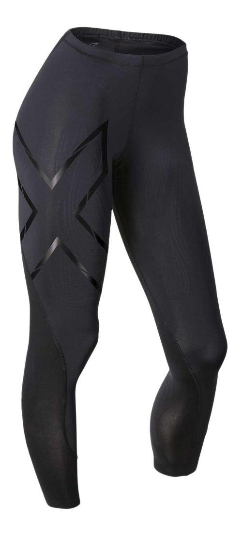 Womens 2XU Elite MCS Compression Tights & Leggings Tights - Black/Nero XL-R