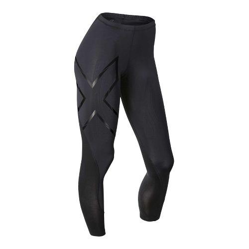 Womens 2XU Elite MCS Compression Tights & Leggings Tights - Black/Nero S-R