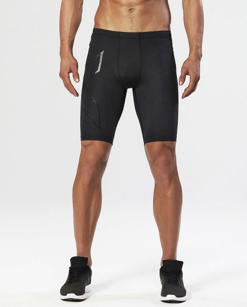 Mens 2XU Elite MCS Compression Unlined Shorts - Black/Nero L