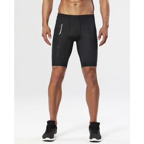 Mens 2XU Elite MCS Compression Unlined Shorts - Black/Gold M