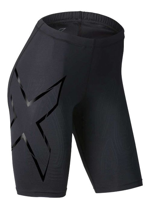 Womens 2XU Elite MCS Compression Unlined Shorts - Black/Nero L