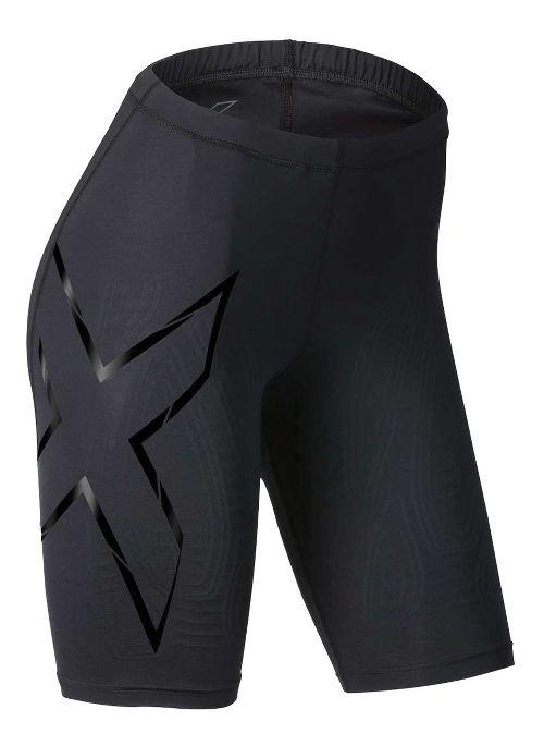 Womens 2XU Elite MCS Compression Unlined Shorts - Black/Nero XL