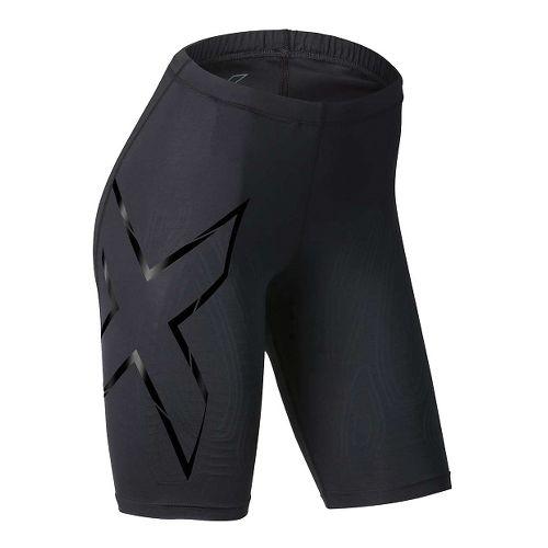 Womens 2XU Elite MCS Compression Unlined Shorts - Black/Gold XXL