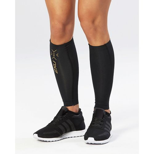 2XU Elite MCS Compression Calf Guards Injury Recovery - Black/Gold XL