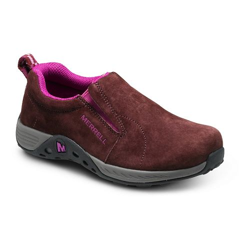 Kids Merrell Jungle Moc Sport Casual Shoe - Berry/Grey 13C