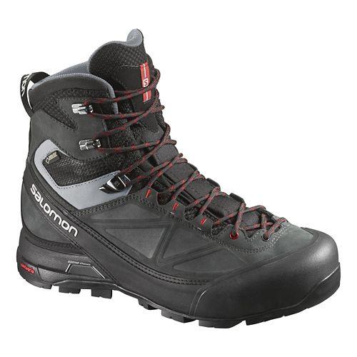 Mens Salomon X-Alp Mtn GTX Hiking Shoe - Black/Asphalt 10