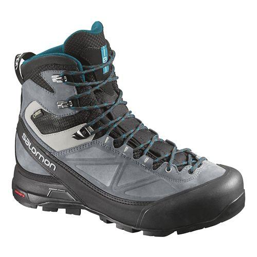 Womens Salomon X-Alp Mtn GTX Hiking Shoe - Black/Pearl Grey 8.5