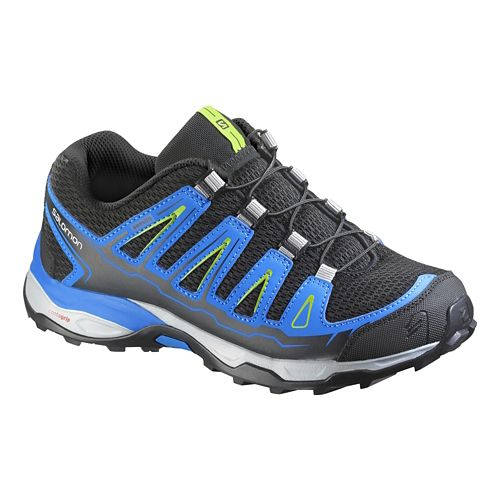 Kids Salomon X-Ultra J Trail Running Shoe - Black/Blue 3