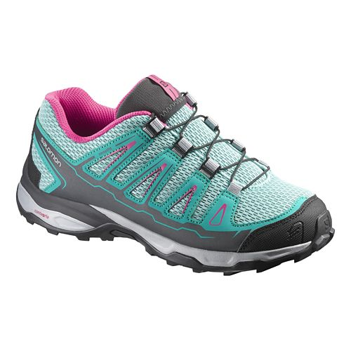 Kids Salomon X-Ultra K Trail Running Shoe - Topaz Blue/Pink 10.5