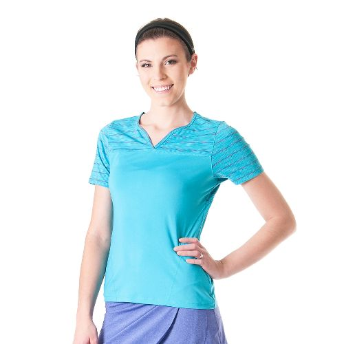 Womens Skirt Sports 261 Freedom Tee Short Sleeve Technical Tops - Surf/Reflection XXL