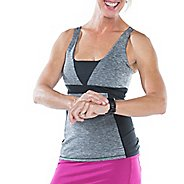Womens Skirt Sports Electric Sleeveless & Tank Technical Tops - Grey Stardust/Black XS
