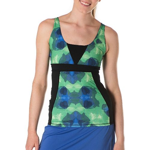 Womens Skirt Sports Electric Sleeveless & Tank Technical Tops - Grey Stardust/Black L