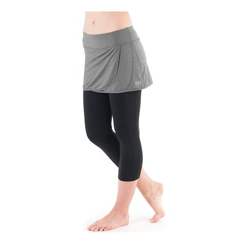 Womens Skirt Sports 261 Courage Capri Skort Fitness Skirts - Shadow Heather XS