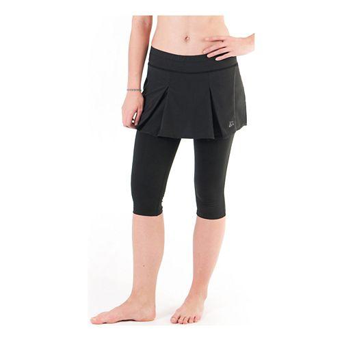 Womens Skirt Sports Jette Capri Skort Fitness Skirts - Black S