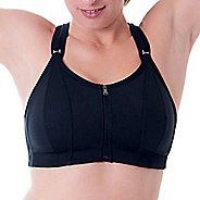 Womens Skirt Sports Zip 'Em Up Sports Bras - Black 38-C