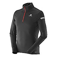 Mens Salomon Agile Mid Long Sleeve Half Zip Technical Tops