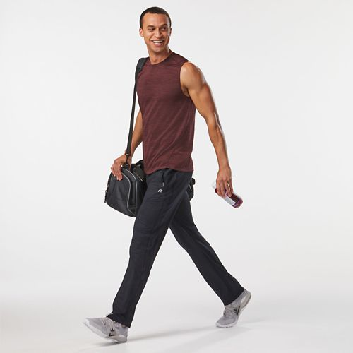 Mens Road Runner Sports Trail Blazing Track Full Length Pants - Black XXL