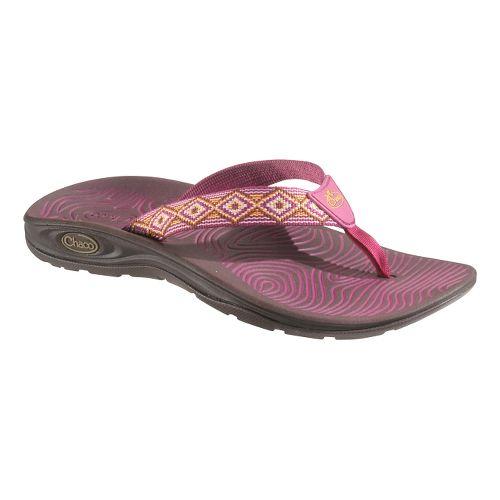 Womens Chaco Z/Volv Flip Sandals Shoe - Pink Diamonds 9