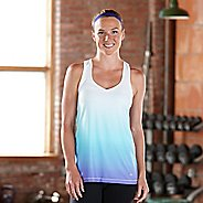 Womens Road Runner Sports Shades of Grey Ombre Tanks Technical Tops