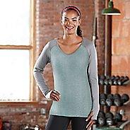 Womens Road Runner Sports Sheer Bliss Long Sleeve No Zip Technical Tops - Aruba Blue M