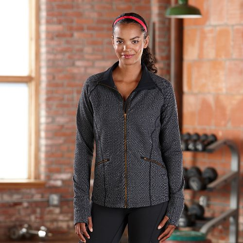 Womens Road Runner Sports Smooth Transition Lightweight Jackets - Herringbone L