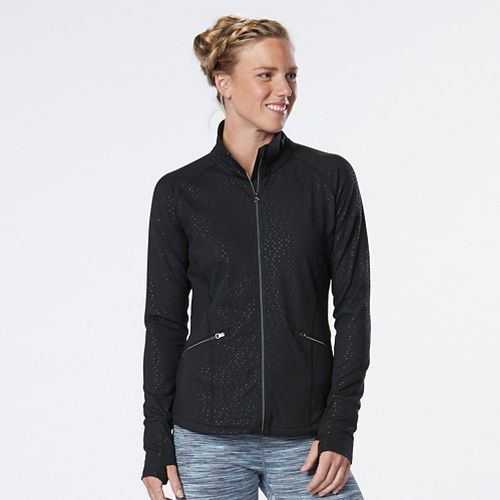 Womens R-Gear Smooth Transition Lightweight Jackets - Black/Shiny Dot M