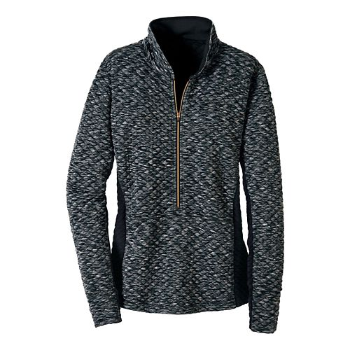 Womens Road Runner Sports Smooth Transition Quilted Long Sleeve 1/2 Zip Technical Tops - ...