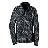 Womens Road Runner Sports Smooth Transition Quilted Long Sleeve 1/2 Zip Technical Tops