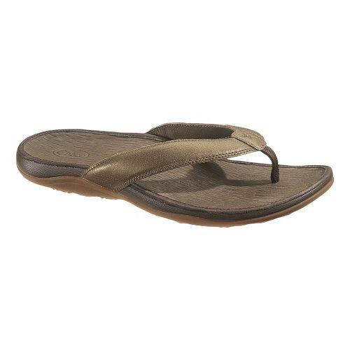 Womens Chaco Sol Sandals Shoe - Metallic 10