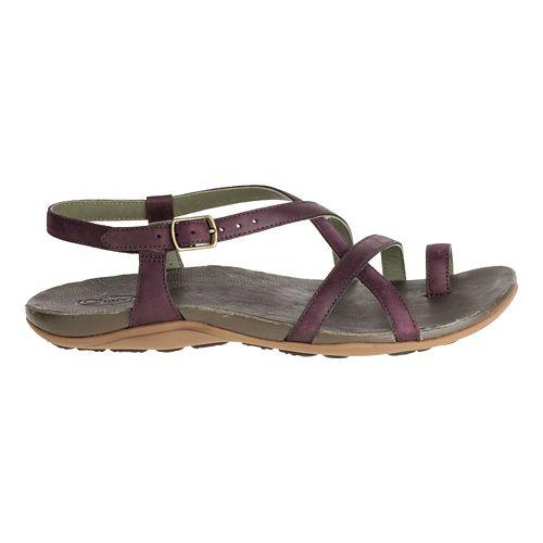 Womens Chaco Dorra Sandals Shoe - Malbec 5