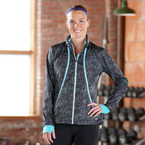 Womens Road Runner Sports Zip To It Printed Lightweight Jacket - Graffiti S