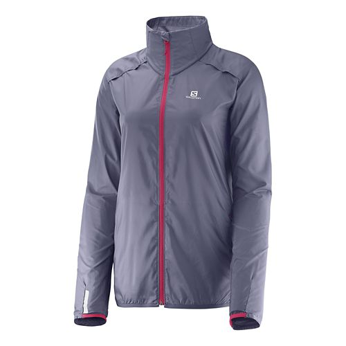 Womens Salomon Agile Trail Lightweight Jackets - Artist Grey L