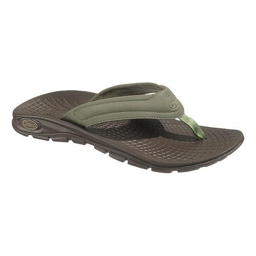 Mens Chaco Z/Volv Flip Synth Sandals Shoe - Grape Leaf 7