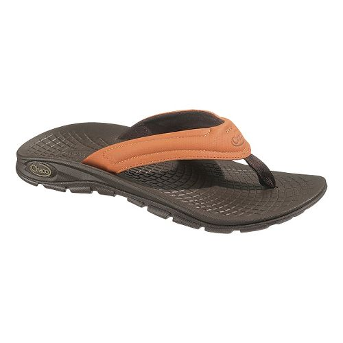 Mens Chaco Z/Volv Flip Synth Sandals Shoe - Umber 13