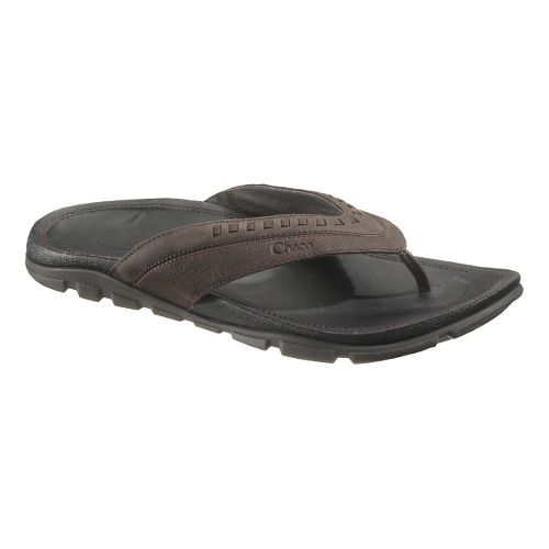 Mens Chaco Finn Sandals Shoe - Chocolate Torte 13
