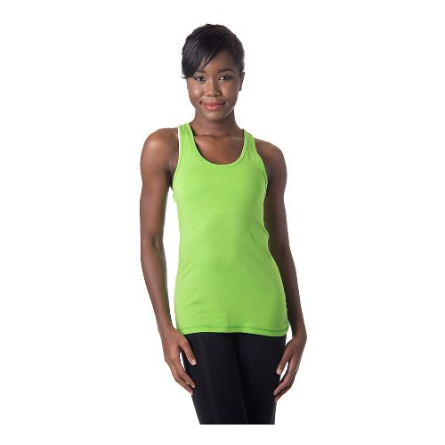 Womens Tasc Performance Core Racer Tank Technical Tops - Green Flash L