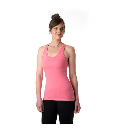Womens Tasc Performance Core Racer Tank Technical Tops - Conch M