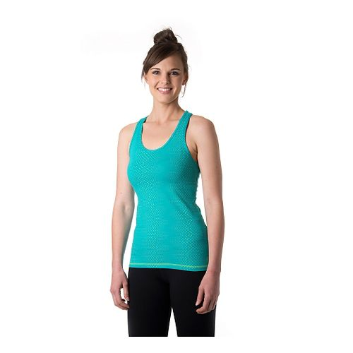 Womens Tasc Performance Core Racer Printed Tank Technical Tops - Baltic Dot S