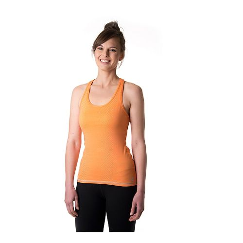 Womens Tasc Performance Core Racer Printed Tank Technical Tops - Nectarine Dot M