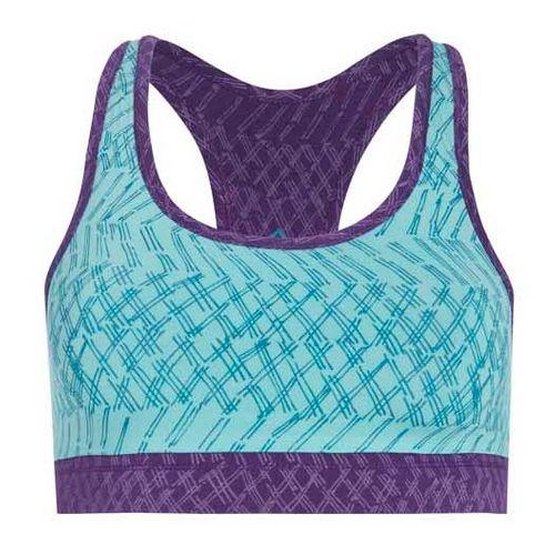 Womens Tasc Performance Endurance Print Sports Bra Bras - Monsoon/Plumberry L